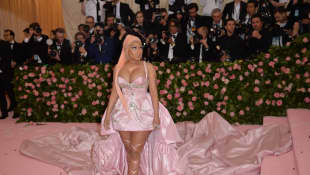Nicki Minaj arriving at the 2019 Met Gala Celebrating Camp: Notes On Fashion at The Metropolitan Museum of Art on May 6, 2019 in New York City