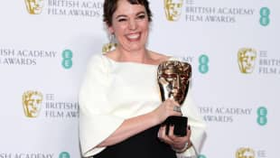 Olivia Colman at the 2019 BAFTA Awards