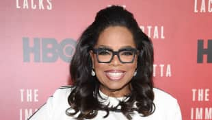 Oprah Winfrey attends 'The Immortal Life of Henrietta Lacks' premiere in 2017.