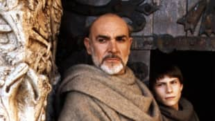 """Sean Connery and Christian Slater in """"The Name of the Rose"""""""
