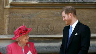 The Queen's Touching Gesture To Prince Harry Before Royal Exit Revealed