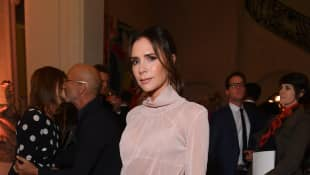 Victoria Beckham attends the YouTube cocktail party during Paris Fashion Week on September 26, 2018 in Paris, France