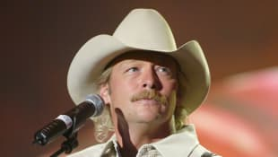 """Alan Jackson rehearses for the """"2002 Academy of Country Music Awards"""" at the Universal Amphitheatre on May 21, 2002"""