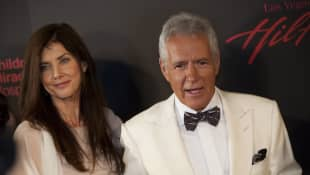 Alex Trebek and wife Jean Currivan Trebek arrive at the 38th Annual Daytime Emmy Awards show in Las Vegas, Nevada, on June 19, 2011