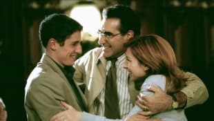Jason Biggs, Eugene Levy and Alyson Hannigan