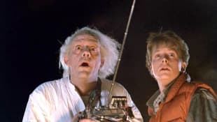 "'Back to the Future': Instagram reunion for ""Marty McFly"" and ""Doc Brown""."
