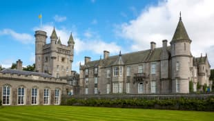 Balmoral Castle in Scotland where Queen Elizabeth II spends her summer holidays