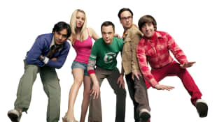 The cast of 'The Big Bang Theory' back in 2007.