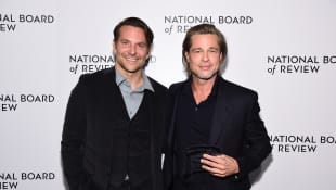 Brad Pitt thanks Bradley Cooper for helping him get sober in emotional acceptance speech