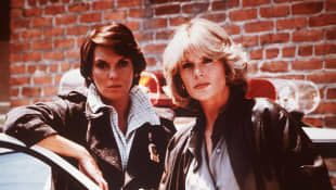"Tyne Daly (""Lacey"") and Sharon Gless (""Cagney"") in Cagney & Lacey 1995"