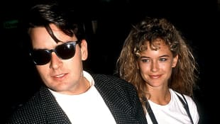 CHARLIE SHEEN AND KELLY PRESTON in 1989.