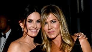 Courteney Cox Plays Pool Against Jennifer Aniston In Fun Video