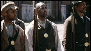 """Denzel Washington as Private """"Silas Trip"""" in the 1998 movie 'Glory'."""