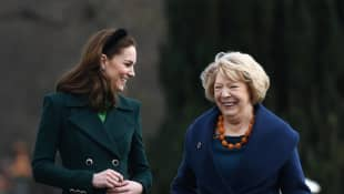 Duchess Catherine smiled when Sabina Higgins made a subtle nod to the recent royal family drama.