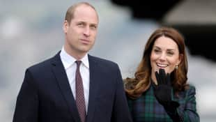 The Duke and Duchess of Cambridge arrive at Dundee's waterfront to open the new V&A Museum