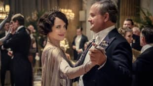 "Elizabeth McGovern and Hugh Bonneville as ""Cora"" and ""Robert"" in Downton Abbey."