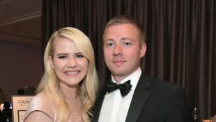 Elizabeth Smart and Matthew Gilmour attend the 43rd Annual Gracie Awards on May 22, 2018 in Beverly Hills, California.