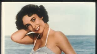 Actress Elizabeth Taylor Poses In An Old Film Still, circa 1955