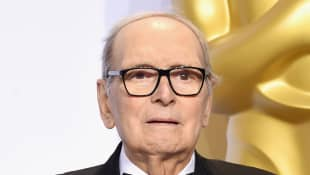 Ennio Morricone winner of the Best Original Score award for ''The Hateful Eight' during the 88th Annual Academy Awards on February 28, 2016