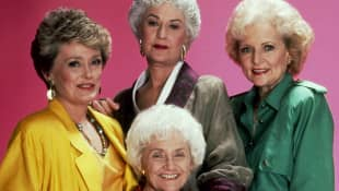 Rue McClanahan, Beatrice Arthur, Estelle Getty & Betty White in a promotional still for 'The Golden Girls'.