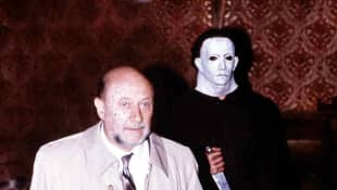 Donald Pleasance and Nick Castle