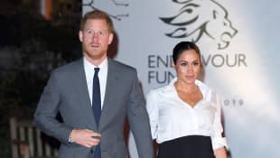 Harry and Meghan arrive at the Endeavor Fund Awards