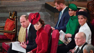 Prince Harry, Duchess Meghan, Prince William, and Duchess Catherine