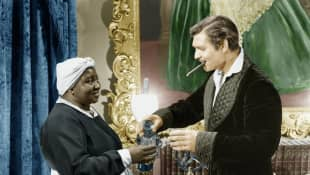 Hattie McDaniel and Clark Gable in 'Gone With The Wind'.