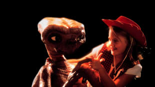 A young Drew Barrymore in the 1982 film, 'E.T. the Extra-Terrestrial'.