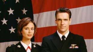 Catherine Bell and David James Elliott in JAG