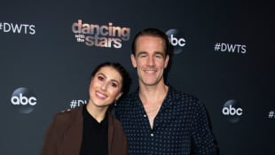 Emma Slater and  James Van Der Beek attend the Dancing With The Stars - 2019 top 6 finalist event, November 4, 2019