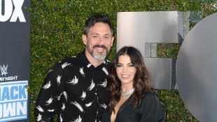Steve Kazee and Jena Dewan attend WWE 20th Anniversary Celebration Marking Premiere of WWE Friday Night SmackDown on FOX at Staples Center on October 04, 2019 i