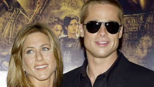 Brad Pitt and Jennifer Aniston in 2004