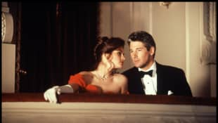 "Julia Roberts and Richard Gere as ""Vivien"" and ""Edward"" in 'Pretty Woman'."
