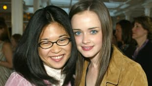 Keiko Agena and actress Alexis Bledel attend the Warner Brother Casting Call 2002