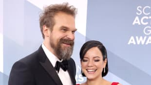 'Stranger Things' Star David Harbour and Lily Allen Married By Elvis Impersonator In Las Vegas Chapel