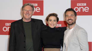 Line of Duty stars Adrian Dunbar, Vicky McClure and Martin Compston
