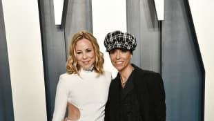 Maria Bello and Dominique Crenn