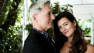 Mark Harmon and Cote de Pablo