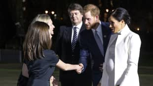 Duchess Meghan and Prince Harry at the National History Museum in London