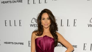 Meghan Markle attends the ELLE's Women in Television Celebration at Soho House on January 24, 2013