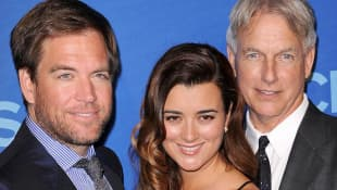 Michael Weatherly, Cote de Pablo and Mark Harmon CBS Red Carpet