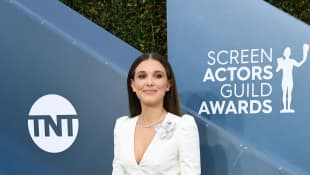 Millie Bobby Brown attends the 26th Annual Screen Actors Guild Awards, Jan. 19, 2020.