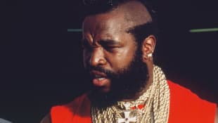 "Mr. T played the role of ""B.A. Baracus"" on The A-Team from 1883 until 1987."