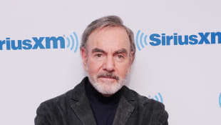 "Neil Diamond attends SiriusXM's ""Town Hall"" With Neil Diamond Hosted By Cousin Brucie On SiriusXM's Neil Diamond Radio at SiriusXM Studios on October 21, 2014 in New York City"