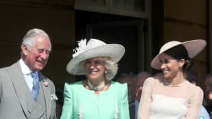 Prince Charles, Duchess Camilla and Duchess Meghan Prince Charles 70th BIrthday Buckingham Palace