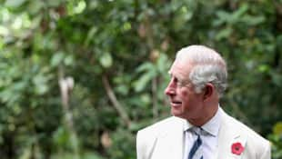 Prince Charles at the MacRitchie Reservoir Park in Singapore