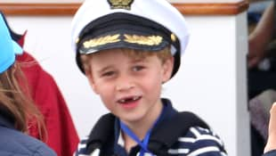 Prince George at the King's Cup regatta on August 8, 2019