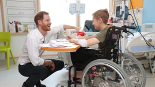 Prince Harry visit the Children's Hospital in Sheffield