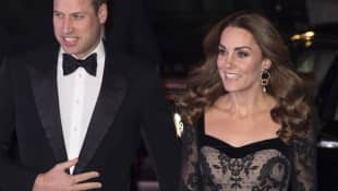2019 Royal Variety Performance: Prince William and Duchess Catherine had to endure some bad jokes.